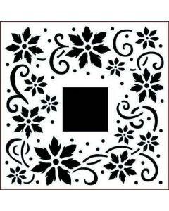 Imagination Crafts Stencil 6x6 - Flower Flourish Border