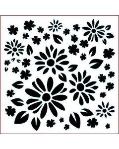 Imagination Crafts Stencil 6x6 - Flower Power