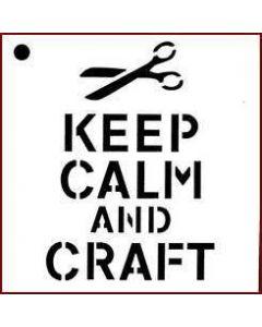 Imagination Crafts Mini Stencil - Keep Calm And Craft