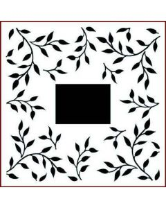Imagination Crafts Stencil 6x6 - Leaf Swirl Border