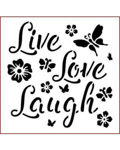 Imagination Crafts Stencil 6x6 - Live Laugh Laugh