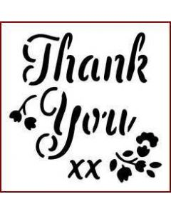 Imagination Crafts Mini Stencil - Thank You
