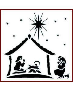 Imagination Crafts 6x6 Christmas Stencil - Nativity