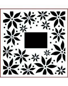 Imagination Crafts Stencil 6x6 - Poinsettia Border