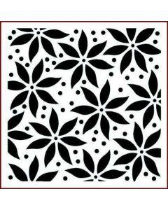 Imagination Crafts Stencil 6x6 - Poinsettia Large