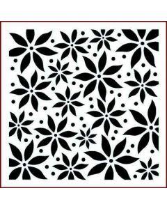 Imagination Crafts Stencil 6x6 - Poinsettia Multi