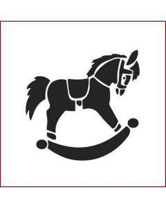 Imagination Crafts Stencil 6x6 - Rocking Horse