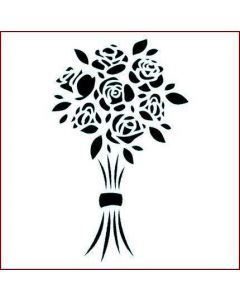Imagination Crafts Stencil 6x6 - Rose Bouquet