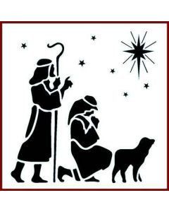 Imagination Crafts 6x6 Christmas Stencil - Shepherd and Star