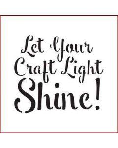 Imagination Crafts Mini Stencil - Let Your Craft Light Shine
