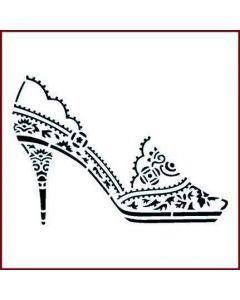 Imagination Crafts Stencil 6x6 - Shoe