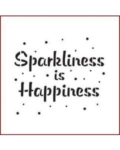 Imagination Crafts Mini Stencil - Sparkliness is Happiness