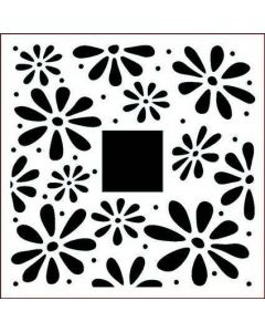 Imagination Crafts Stencil 6x6 - Spring Daisies Border