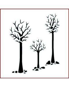 Imagination Crafts Stencil 6x6 - Three Trees