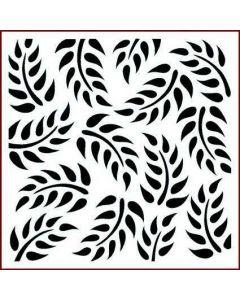 Imagination Crafts Stencil 6x6 - Tropical Leaf