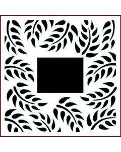 Imagination Crafts Stencil 6x6 - Tropical leaf Border