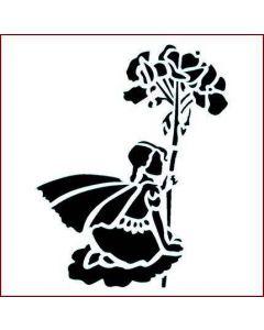 Imagination Crafts Stencil 6x6 - Wild Flower Fairy