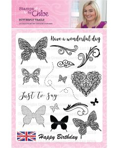 Stamps by Chloe 6 x 6 Clear Stamp - Butterfly Trails