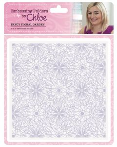 Stamps by Chloe Embossing Folder - Fancy Floral Garden