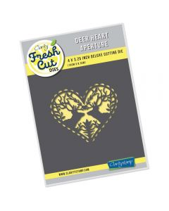 Claritystamp Fresh Cut Die - Deer Heart