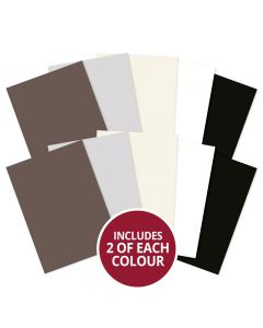 Hunkydory Adorable Scorable A4 Cardstock x 10 sheets - Monochromes