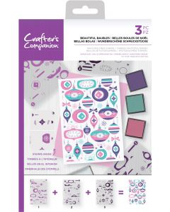 Crafter's Companion Background Layering Stamps - Beautiful Baubles