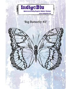 IndigoBlu A6 Red Rubber Stamps - Big Butterfly #3