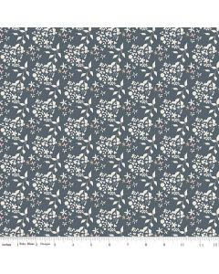 Riley Blake Someday Fabric - Flowers Navy