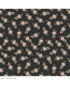 Riley Blake Bliss Fabric - Floral Black