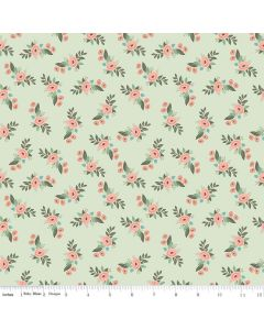 Riley Blake Bliss Fabric - Floral Mint