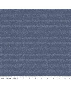 Riley Blake Edie Jane fabric - Letter Navy