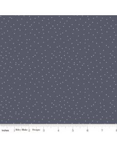 Riley Blake Edie Jane fabric - Dot Navy