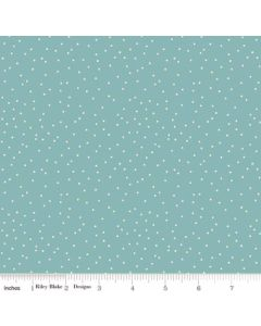 Riley Blake Edie Jane fabric - Dot Teal