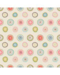 Sara Signature Sew Retro Fabric - Cream Wheels