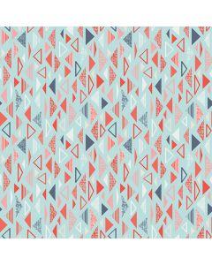 Sara Signature Sew Retro Fabric - Blue Triangles