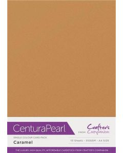 Crafter's Companion Centura Pearl Single Colour A4 10 Sheet Pack - Caramel