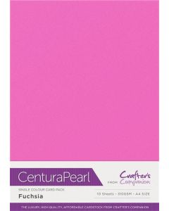 Crafter's Companion Centura Pearl Single Colour A4 10 Sheet Pack - Fuchsia