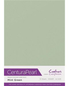 Crafter's Companion Centura Pearl Single Colour A4 10 Sheet Pack - Mint
