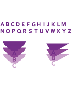 Gemini Expressions Metal Dies - Cascade Down Alphabet