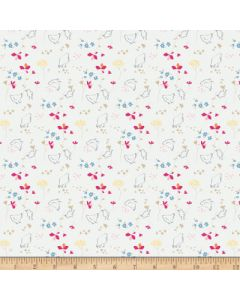 Riley Blake Someday Fabric - Chickens Cream