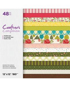 Crafter's Companion 12 x 12 Printed Paper Pad - Detailed Decorations