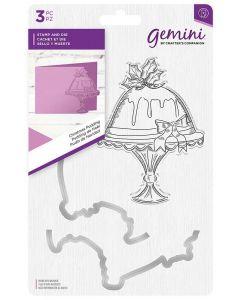 Gemini Christmas Stamp and Metal Die Set - Christmas Pudding