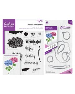 Gemini Layering Dies and Stamps - Budding Hydrangeas Collection