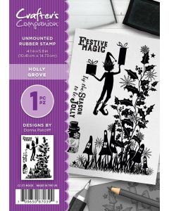 Crafter's Companion A6 Rubber Stamp - Holly Grove