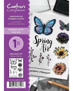 Crafter's Companion A6 Rubber Stamp - Spring is in the Air