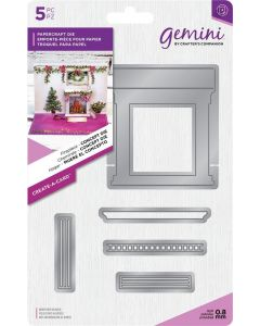 Gemini Create-a-Card Christmas Dimensionals Metal Die - Fireplace Concept Die