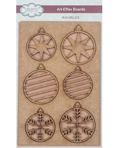 Creative Expressions Art-Effex MDF Boards - Baubles