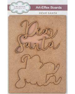 Creative Expressions Art-Effex MDF Boards - Dear Santa