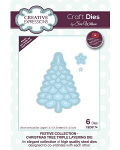 Creative Expressions Festive Collection Triple Layering Die - Christmas Tree