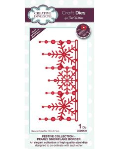 Creative Expressions Festive Collection Craft Die - Pearly Snowflake Border